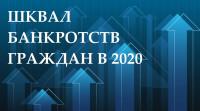 Количество потребительских банкротств в 2020 увеличилось кратно! Официальная информация.