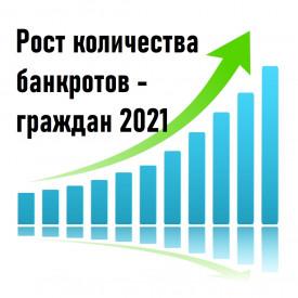 Рост количества банкротств граждан в 2021